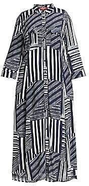 Marina Rinaldi Marina Rinaldi, Plus Size Marina Rinaldi, Plus Size Women's Marina Sport Dare Geometric Print Shirtdress