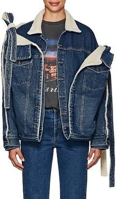 Y/Project Women's Layered Denim Convertible Trucker Jacket