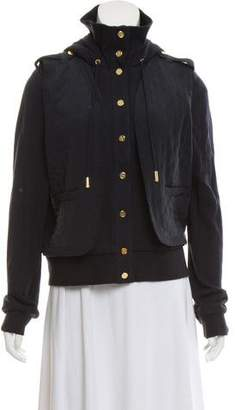 Tory Burch Quilted Hooded Jacket