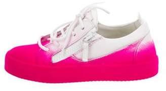 Giuseppe Zanotti Velvet Low-Top Sneakers