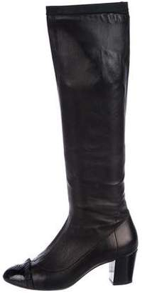 Chanel Leather Knee-High Boots