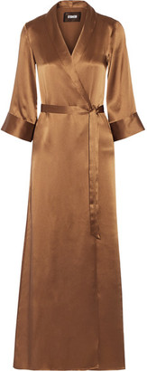 Reformation - Silk Wrap Maxi Dress - Bronze $370 thestylecure.com