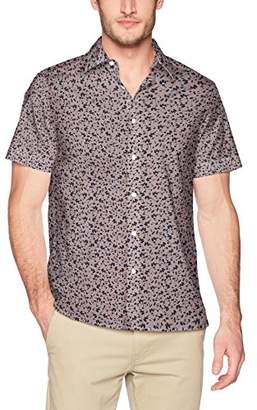 Perry Ellis Men's Short Sleeve Floral Print Shirt