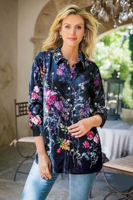 Soft Surroundings Jardim Velvet Shirt