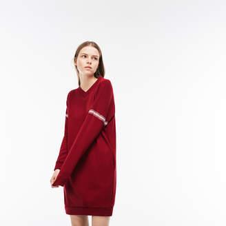 Lacoste (ラコステ) - コントラストバンド クレープフリース スウェットシャツドレス