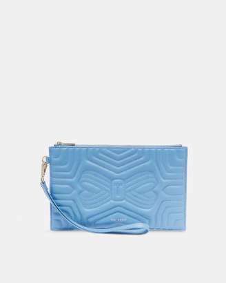 Ted Baker VERDA Quilted bow leather wristlet pouch