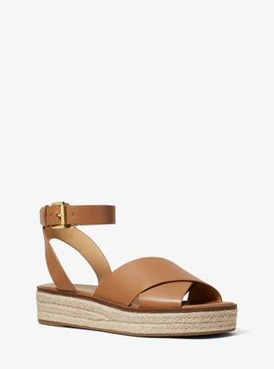 MICHAEL Michael Kors Abbott Leather Espadrille Sandal