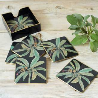 Graham and Green Banana Leaf Coaster Set