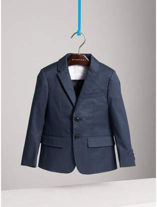 Burberry Tailored Stretch Cotton Blazer