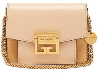 Givenchy Gv3 Mini Suede And Leather Cross Body Bag - Womens - Nude