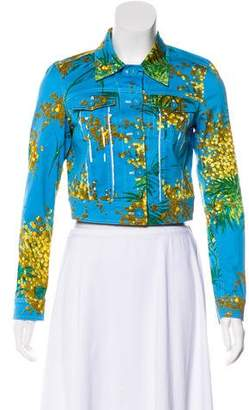 Blumarine Floral Print Casual Jacket w/ Tags