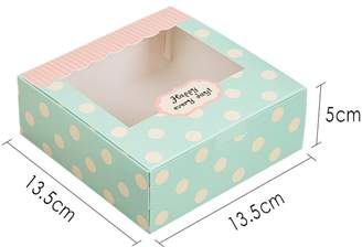 Zhi Jin 12Pcs Cavities Paper Cake Box Muffin Cupcake Pastry Packaging Gift Boxes Bakery Container Set 5inch