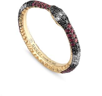 Gucci Ouroboros Diamond & Stone Pave Snake Ring