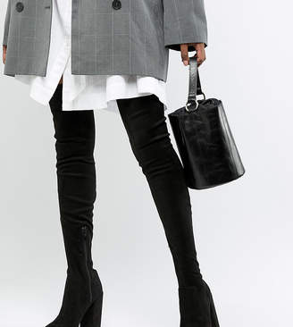Asos Tall DESIGN Tall Kassidy heeled thigh high boots