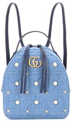 Gucci GG Marmont embellished backpack