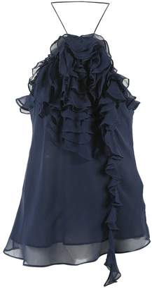 Georges Rech Navy Silk Tops