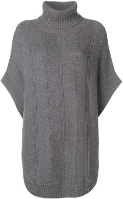 N.Peal turtleneck poncho