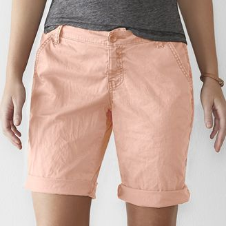 Women's SONOMA Goods for LifeTM Chino Bermuda Shorts $36 thestylecure.com