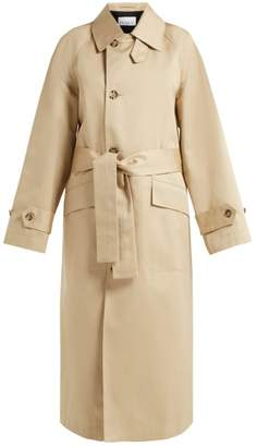 Raey Split Back Cotton Trench Coat - Womens - Beige