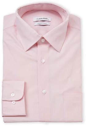 Calvin Klein Regular Fit Stretch Geo Pattern Dress Shirt