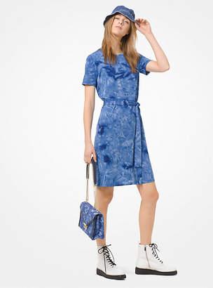 85fbd996209 Michael Kors Tie-Dye Belted T-Shirt Dress