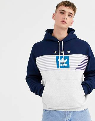 Navy Adidas Hoodie ShopStyle UK