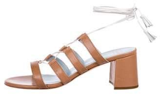 Frances Valentine Leather Lace-Up Sandals Brown Frances Valentine Leather Lace-Up Sandals