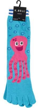 K. Bell Novelty Crew Toe Socks - Pink Octopus