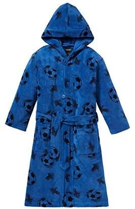Schiesser Boy's Fußball Bademantel Dressing Gown