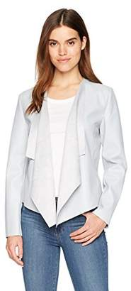 Bagatelle Women's Faux Leather Drape Jacket