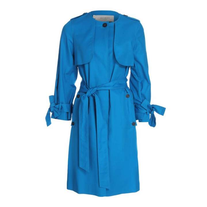 Azure Blue Molly Trench Coat