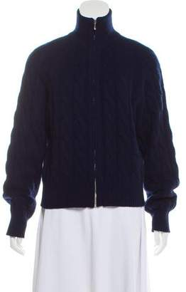 Malo Cashmere Cable Knit Cardigan