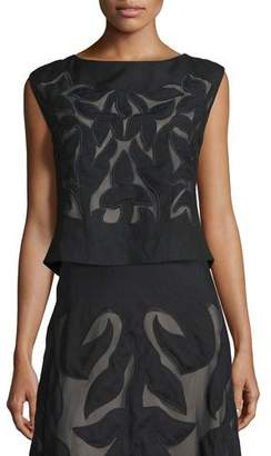 Nic+Zoe Special Edition Secret Garden Sleeveless Top, Black, Petite