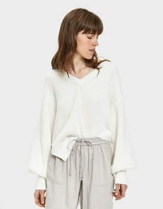 Emma Bishop Sleeve Sweater in Ivory