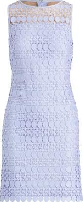 Ralph Lauren Lace-Mesh Sleeveless Dress