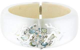 Alexis Bittar Moonstone Embellished Hinge Bangle