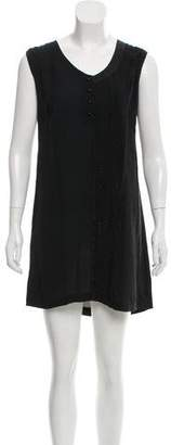 Alexander Wang Embellished Silk Dress