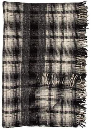 Hermes Wool Embroidered Throw Blanket