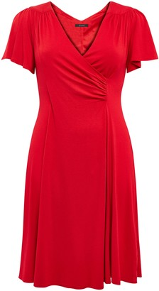 Evans **Scarlett & Jo Red Crepe Fit And Flare Dress