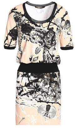 Roberto Cavalli Printed Crepe Mini Dress