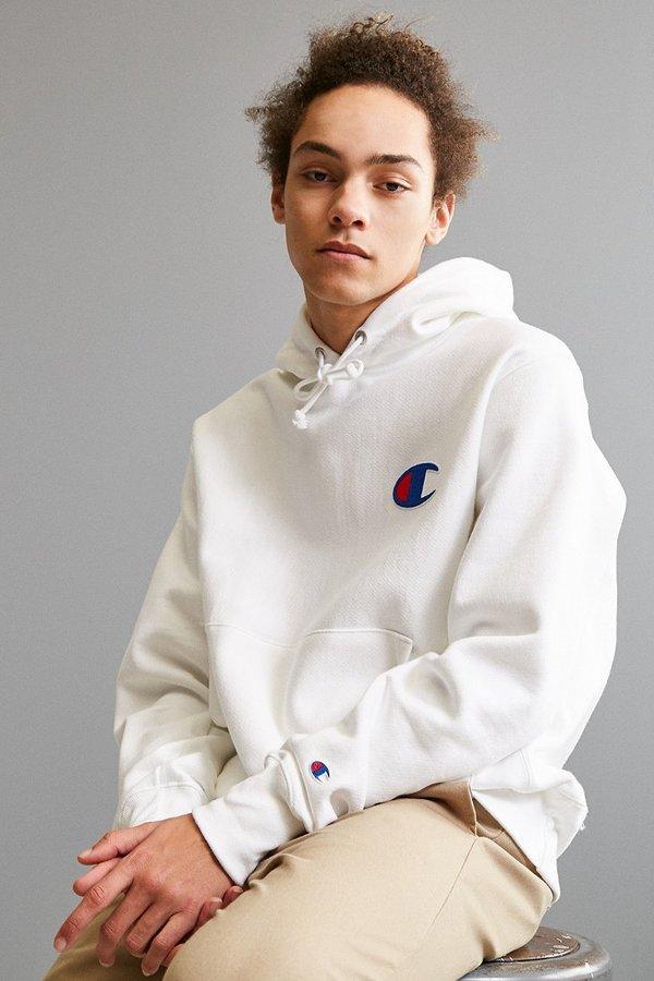Champion Reverse Weave Big C Hoodie Sweatshirt