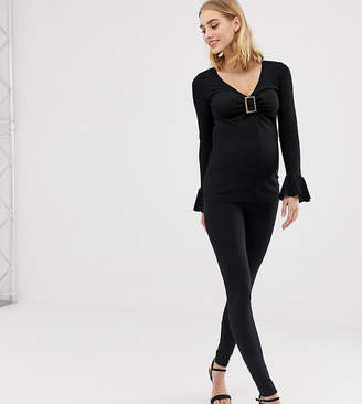 4e376a33f57781 Asos DESIGN Maternity Tall over the bump high waisted leggings in black