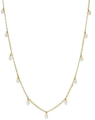"""Bloomingdale's Cultured Freshwater Pearl Dangle Necklace in 14K Yellow Gold, 17"""" - 100% Exclusive"""