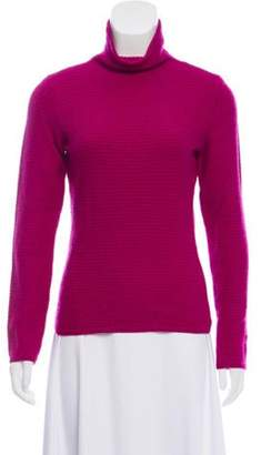 Loro Piana Cashmere Knit Turtleneck Purple Cashmere Knit Turtleneck