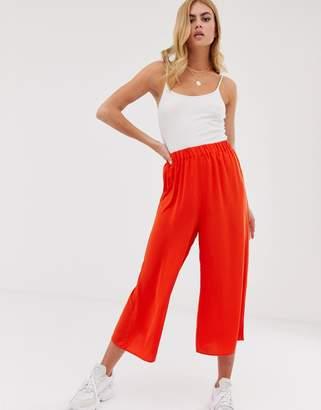 Asos Design DESIGN easy elasticated culottes