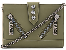 Kenzo Kalifornia Wallet On Chain in Army. $325 thestylecure.com