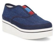 Stella McCartney Binx Denim Platform Loafers $595 thestylecure.com