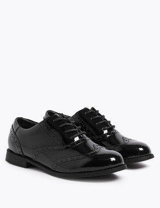 Marks and Spencer Kids Leather Brogue School Shoes (13 Small - 7 Large)