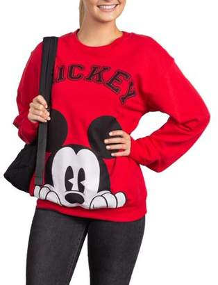 Disney Juniors' Licensed Mickey Face Graphic Pullover Sweatshirt