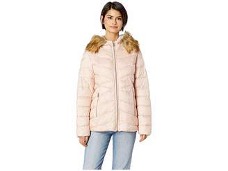 Jessica Simpson Quilted Jacket w/ Faux Fur Hood Women's Coat